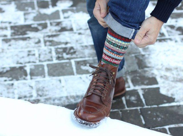 Ботинки JCrew Kenton Boots и носки Chup