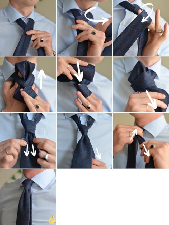 Как завязывать узел four-in-hand четверка