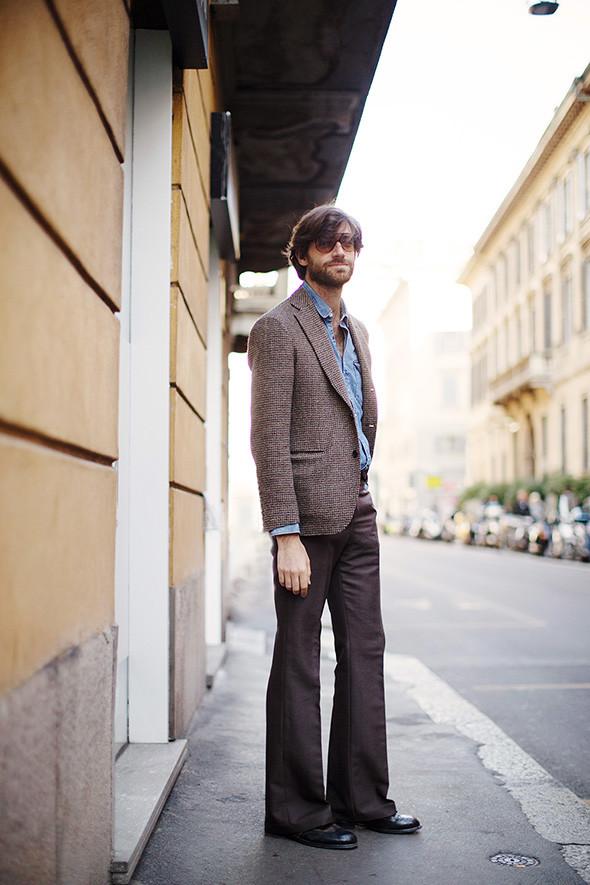 Мужские брюки клёш стиль