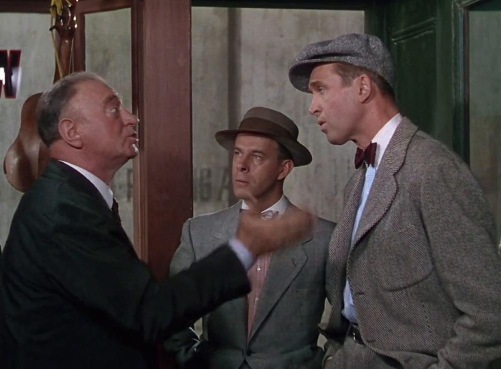 """Отличная восьмиклинка у Джеймса Стюарта. Кадр из фильма """"История Гленна Миллера"""" (1953 г.)"""