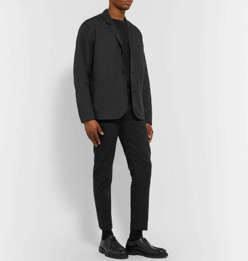 Lars Cotton-Blend Blazer and Sefr trousers черный неклассический комплект верха и низа