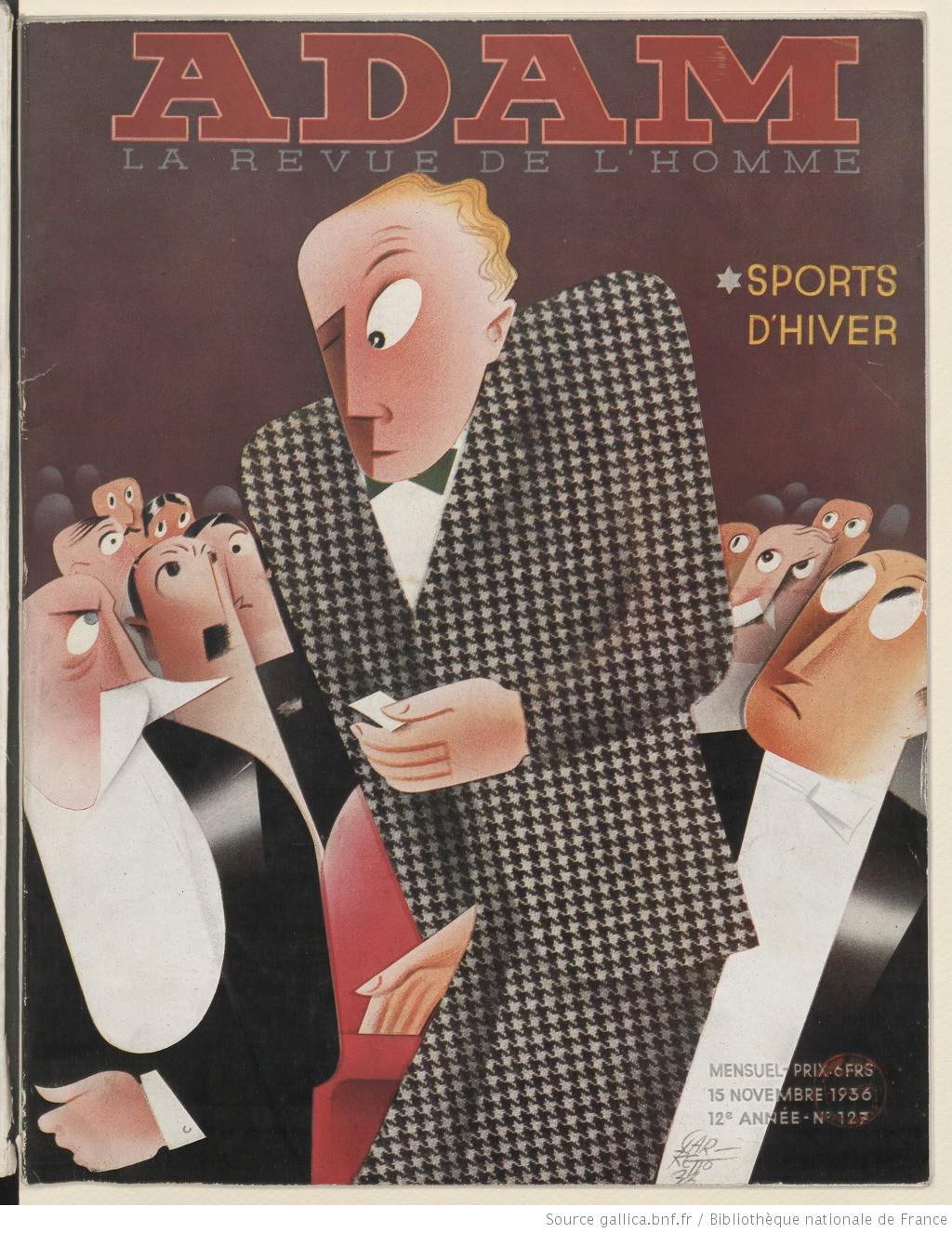 Журнал для мужчин Адам 1936 год