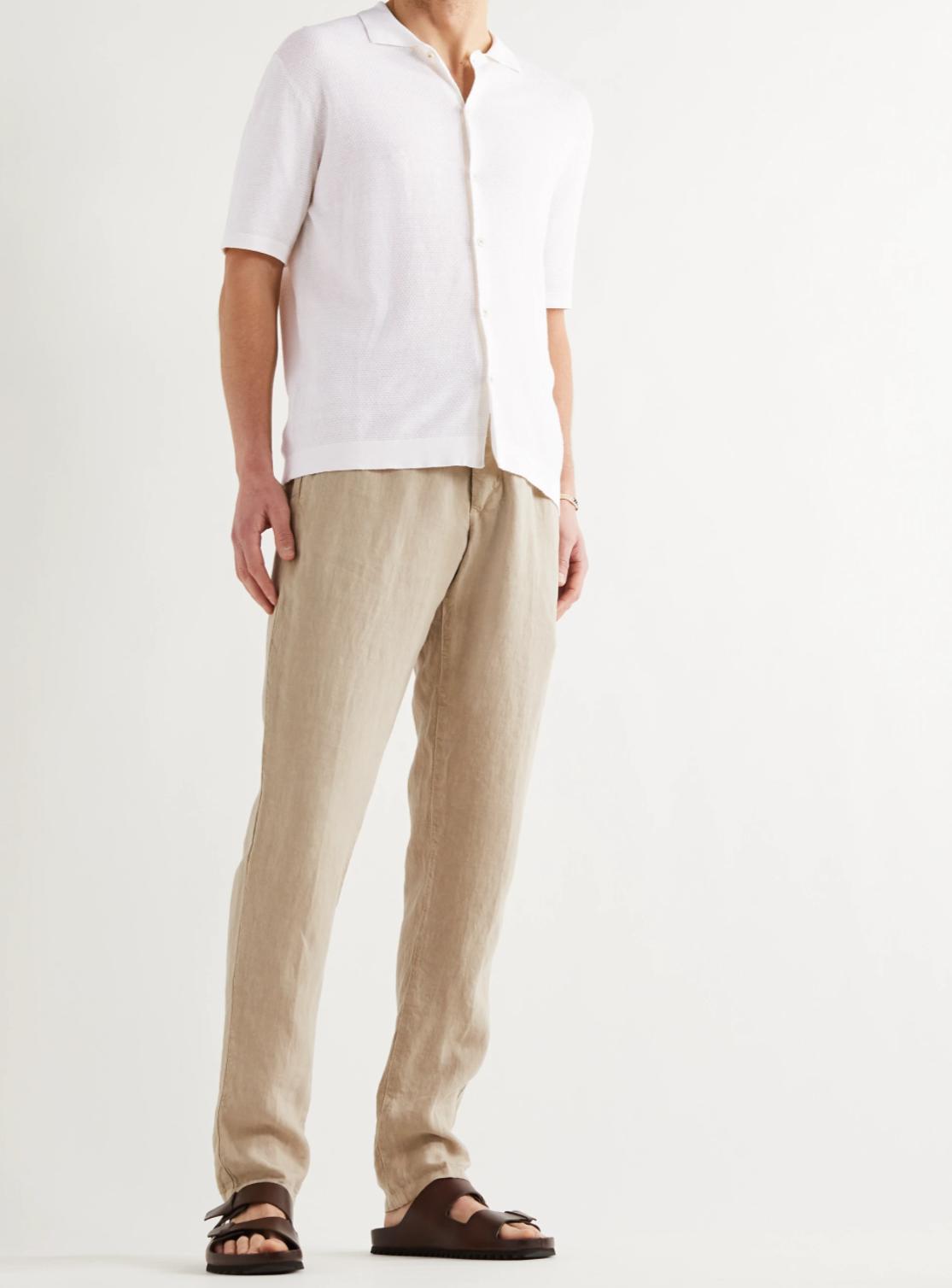 Вязаная летняя рубашка с коротким рукавом в винтажном стиле.jpg