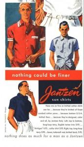 Реклама фирмы Jantzen в журнале Esquire, 1954 г.