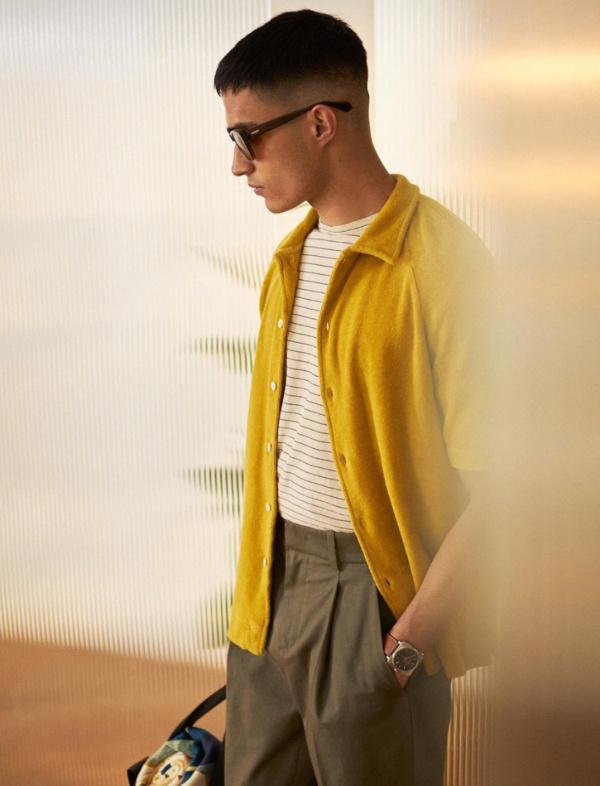 MR PORTER (mrporter) желтая вязаная рубашка-кардиган с коротким рукавом