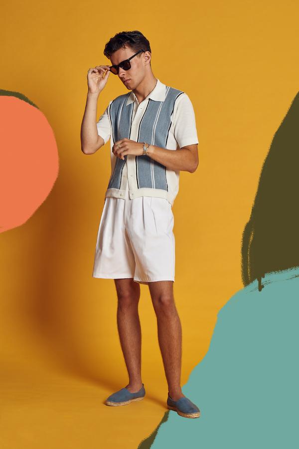Scott-Fraser-рубашка с коротким рукавом в ретро стиле
